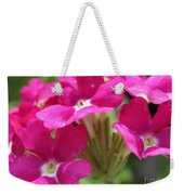 Verbena From The Ideal Florist Mix Weekender Tote Bag