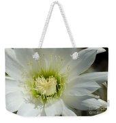 White Cactus Flower Weekender Tote Bag