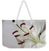 White Lily In Macro Weekender Tote Bag
