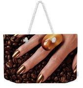 Woman Hands In Coffee Beans Weekender Tote Bag