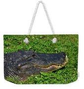 34- Flower Gator Weekender Tote Bag