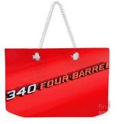340 Four Barrel Weekender Tote Bag