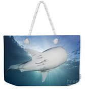 Whale Shark Feeding Under Fishing Weekender Tote Bag