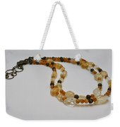 3514 Citrine Double Strand Necklace Weekender Tote Bag
