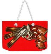 357 Magnum - Painterly - Red Weekender Tote Bag