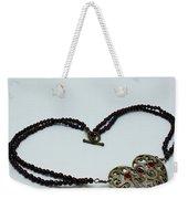 3597 Vintage Heart Brooch Pendant Necklace Weekender Tote Bag