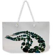 3609 Australian Jasper Triple Strand Necklace Weekender Tote Bag