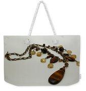 3618 Tigereye And Citrine Necklace Weekender Tote Bag