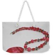3619 Rhodonite And Bali Sterling Silver Necklace Weekender Tote Bag