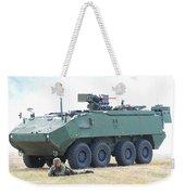 A Belgian Army Piranha IIic With The Fn Weekender Tote Bag