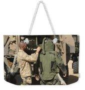 A U.s. Marine Gets Suited Weekender Tote Bag