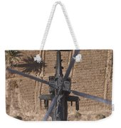 An Ah-64d Apache Helicopter In Flight Weekender Tote Bag