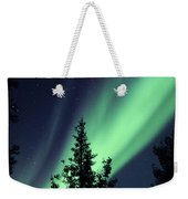 Aurora Borealis Above The Trees Weekender Tote Bag