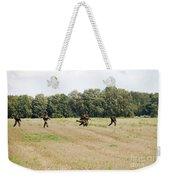 Belgian Paratroopers Proceeding Weekender Tote Bag