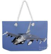 Dutch F-16am During A Combat Air Patrol Weekender Tote Bag