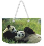Giant Panda Ailuropoda Melanoleuca Weekender Tote Bag
