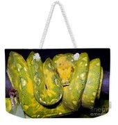Green Tree Python Weekender Tote Bag