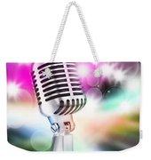 Microphone On Stage Weekender Tote Bag