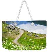 Mountain Lake In Jasper National Park Weekender Tote Bag