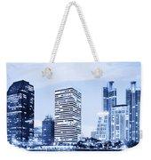 Night Scenes Of City Weekender Tote Bag