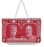 old New Zealand postage stamp Weekender Tote Bag