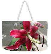 Orienpet Lily Named Scarlet Delight Weekender Tote Bag