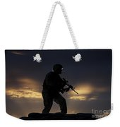 Partially Silhouetted U.s. Marine Weekender Tote Bag
