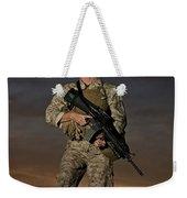 Portrait Of A U.s. Marine In Uniform Weekender Tote Bag
