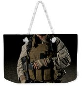 Portrait Of A U.s. Marine Weekender Tote Bag