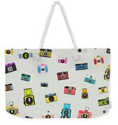 Retro Camera Pattern Weekender Tote Bag