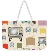retro TV pattern  Weekender Tote Bag