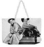 Silent Film Still: Cowboys Weekender Tote Bag