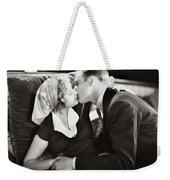Silent Film Still: Kissing Weekender Tote Bag