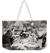 Silent Film Still: Picnic Weekender Tote Bag