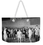Silent Still: Exercise Weekender Tote Bag