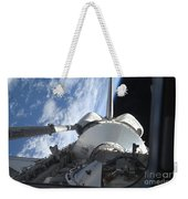 Space Shuttle Discovery Backdropped Weekender Tote Bag