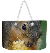 Squirrel Eating Sweet Corn Weekender Tote Bag