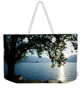 Sunshine Over An Alpine Lake Weekender Tote Bag