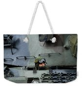 Tank Driver Of A Leopard 1a5 Mbt Weekender Tote Bag by Luc De Jaeger