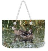 Teal Ducks Weekender Tote Bag