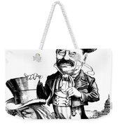 Teddy Roosevelt Cartoon Weekender Tote Bag