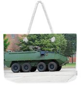 The Piranha IIic Of The Belgian Army Weekender Tote Bag by Luc De Jaeger