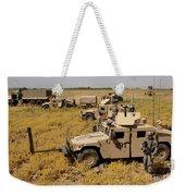 U.s. Army Soldiers Provide Security Weekender Tote Bag