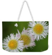 Wildflower Named Robin's Plantain Weekender Tote Bag