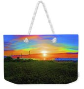 49- Electric Sunrise Weekender Tote Bag