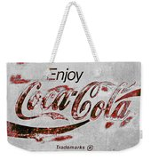 Coca Cola Sign Grungy Retro Style Weekender Tote Bag