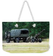 A Belgian Artillery Unit Setting Weekender Tote Bag by Luc De Jaeger