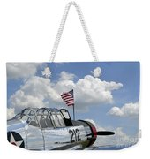 A Bt-13 Valiant Trainer Aircraft Weekender Tote Bag