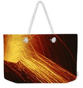 A Fiery New Cone On Mount Etna Upstages Weekender Tote Bag