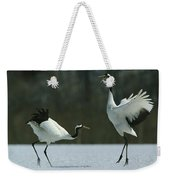 A Pair Of Japanese Or Red Crowned Weekender Tote Bag
